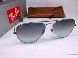 Ray Ban Aviator RB3025 Sunglasses 003/32 58 Silver With Grey Gradient Lens - $67.99+