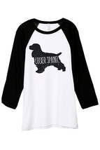 Thread Tank Cocker Spaniel Dog Silhouette Unisex 3/4 Sleeves Baseball Ra... - $24.99+