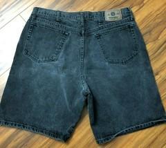 Mens Wrangler Jean Shorts 36 Charcoal Gray Faded Black  - $14.00