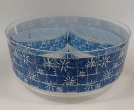 Blue Snowflake Christmas Bowl Set 5 Piece Plastic 1 Large 10 in 4 Small ... - $4.85
