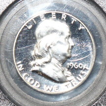 1960 Proof 68 PCGS Near Cameo Franklin Silver Half Dollar - $82.12