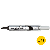 Pentel MAXIFLO MWL5S Whiteboard Marker (Fine Bullet Point) (12pcs) - Black - $25.99