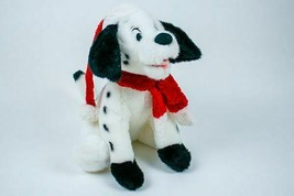 DISNEY STORE 101 102 DALMATIAN 2000 PLUSH CHRISTMAS HOLIDAY SANTA STUFFE... - $15.83