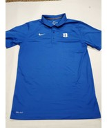 Duke Blue Devils Nike Dri-Fit Short Sleeve Golf Polo Shirt Small Good Co... - $16.82