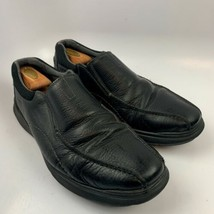 Clarks 13 US Men Dress Loafers Shoes Black Soft Cushion with Ortolite 26... - $29.67