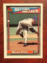 Nolan Ryan 1991 Topps #4 Record Breaker Texas Rangers Baseball Card - $0.99