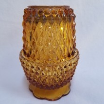 Amber Glass Diamond Point Votive Candle Holder Fairy Lamp Indiana Glass ... - $29.99