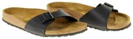 Birkenstock Womens Madrid Black Casual Flat Single Strap Sandal Sz 10 41 - $59.39