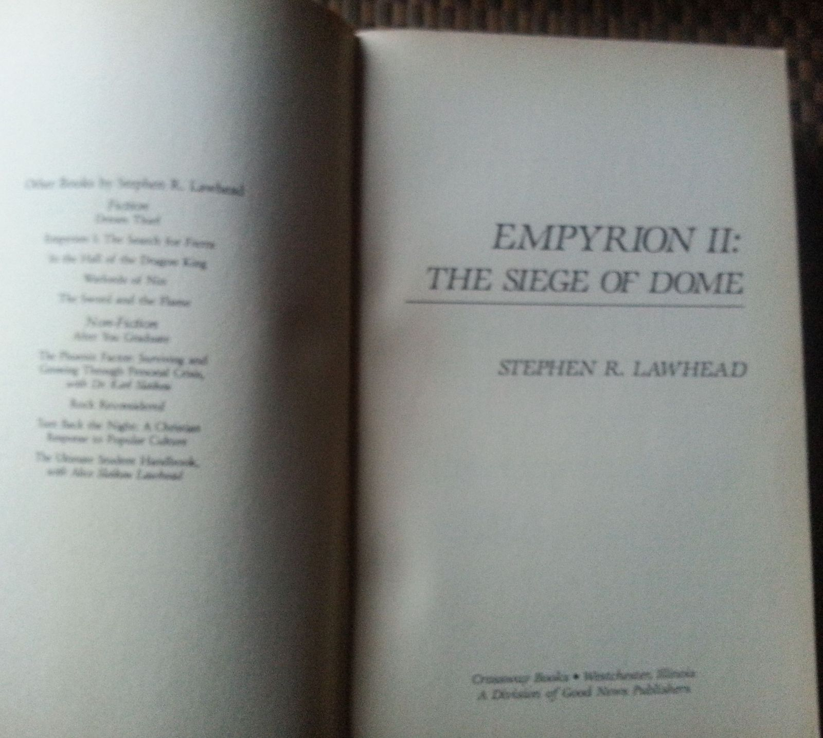 The Siege of Dome by Stephen R. Lawhead 1986 SC Empyrion II