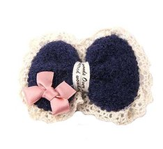 Set of 3 Children Hair Paste Bow-knot Hairpins and Hair Magic Stickers, Navy