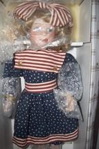 Ashton Drake Vintage Doll Patriotic Doll Red White & Bluel NIB - $39.99
