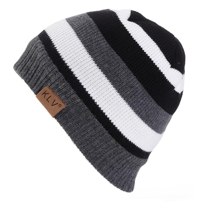 Primary image for Autumn And Winter Hats For Men And Women Classic Fashion ing Kitting Hat Stripe