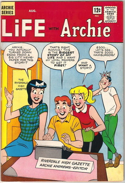 Life With Archie Comic Book #29, Archie 1964 VERY FINE-