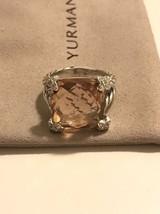 David Yurman Morganite Cushion On Point Diamond Ring Size 6 - $495.00