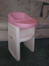 """Vintage Little Tikes Pink Wh High Chair 24"""" fits American Girl Child Dol... - $29.70"""