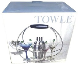 Stainless Steel Cocktail Shaker Mixer Drink Bartender Martini Bar Set w/... - $44.99