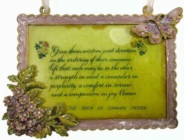 Enamel Glitter Diamantes Wall Hanging Lovers Poem Prayer - $12.95