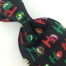 ADDICTION BLACK RED BALLOONS ORNAMENTS Ho Ho Christmas Necktie Tie X6-29... - $19.79
