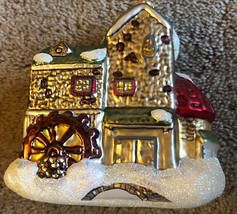 Department 56 Night Before Christmas Dickens Village Mill Glass Ornament 1706 - $23.38
