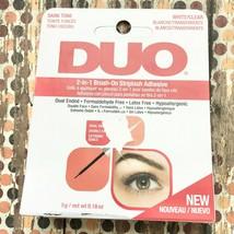 DUO 2 In 1 Brush On Striplash Adhesive Dark Tone White Clear Dries Size ... - $8.51