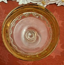 Indiana Glass Kings Crown Compote Candy Dish Gold Rimmed Flashing Thumbprint image 2