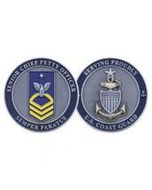 "COAST GUARD SENIOR CHIEF PETTY OFFICER E-8 1.75"" CHALLENGE COIN - $17.14"