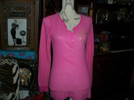 Anthropologie Tankh Wonderful Poppin Pink Bling Top Size L - $13.86