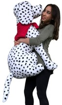 American Made Giant Stuffed Dalmatian 36 Inch Soft Big Plush Fire Dog Br... - $127.11