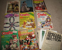 8 Vintage assorted Craft Magazines ++Xtra Patterns - $19.99