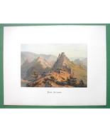 GERMANY Altenahr on Rhine River - COLOR Fine Quality Lithograph Print - $26.01