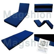 4 Inch Memory Foam Firm Mattress Trifolding Bed Pad Floor Mat Blue/Black... - $87.61+