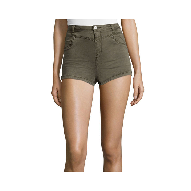 Primary image for Vanilla Star High Rise Shorts Size 15 New Msrp $36.00 Military Olive