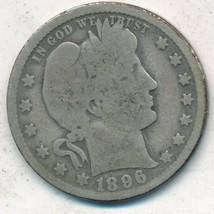 1896-O BARBER SILVER QUARTER-SEMI KEY-NICE CIRCULATED QUARTER-FREE S/H! ... - $64.95