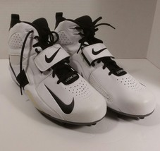 Nike Zoom Air Cleats White High Top Size 15 Mens Football Men's - $34.65