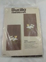 Bucilla Needlecraft Daisy Guest Towels 3549 Partially Done - $4.95