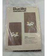 Bucilla Needlecraft Daisy Guest Towels 3549 Partially Done - $1.75