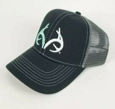 Realtree Blaze Horns Hunting Snapback Trucker Hat Baseball Cap Gray - $17.45