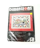 Dimensions Counted Cross Stitch I Love Country Sewing Kit Farm Cow Sampler - $29.99