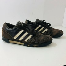 ADIDAS Brown Leather Suede Sneakers Mens US Size 13 - $40.97