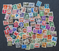 106 Worldwide Stamps, used, in various denominations - $7.50