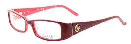 GUESS GU2537 066 Women's Plastic Eyeglasses Frames 51-16-135 Red + CASE - $47.92