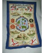 Channel Islands Castles Cotton Tea Towel Clive Mayor - $11.70