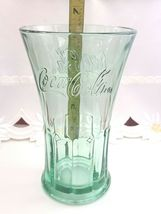 Vintage Coca Cola Glass Green Libby Flared Tumbler Heavy Duty Coke Cup 16 ounces image 6
