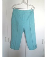 CHRISTOPHER & BANKS LADIES CROPPED PANTS-4-100% COTTON-NICE PASTEL-BAREL... - $3.95