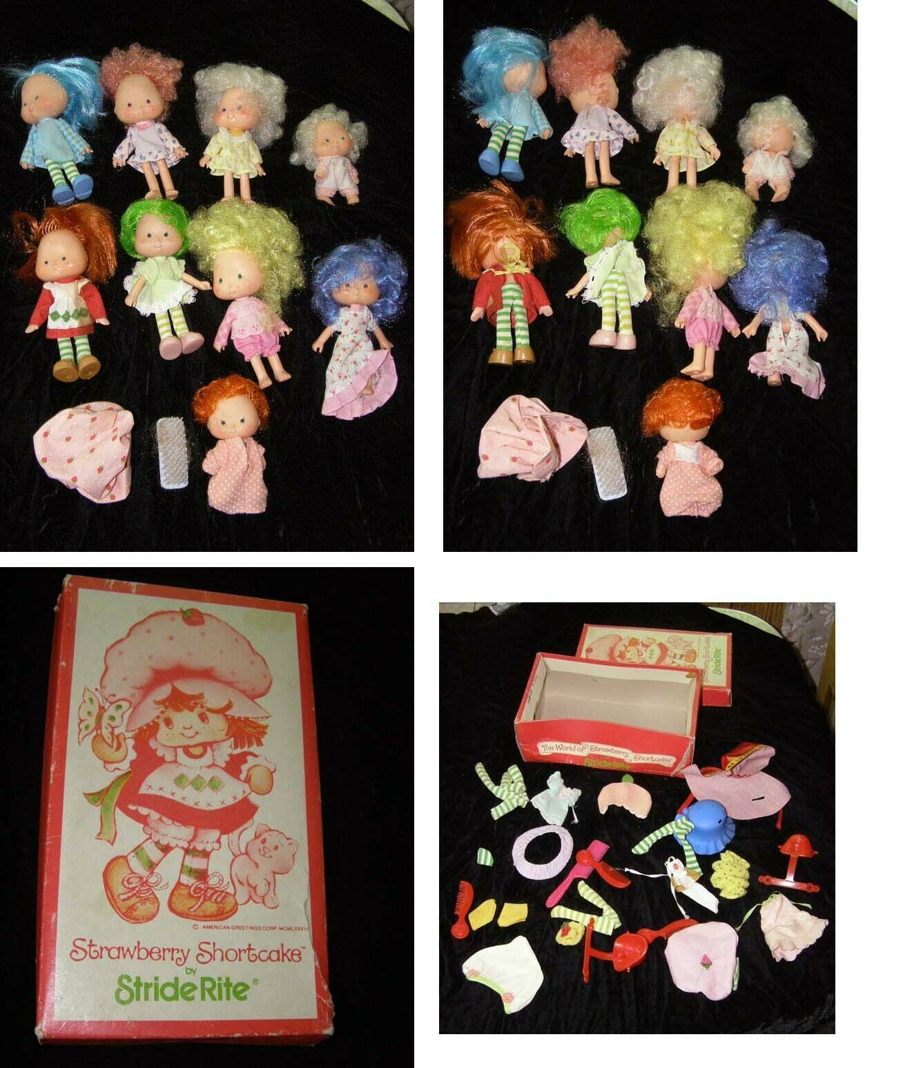 Primary image for Strawberry Shortcake Doll & Accessories Lot Vintage 1980s