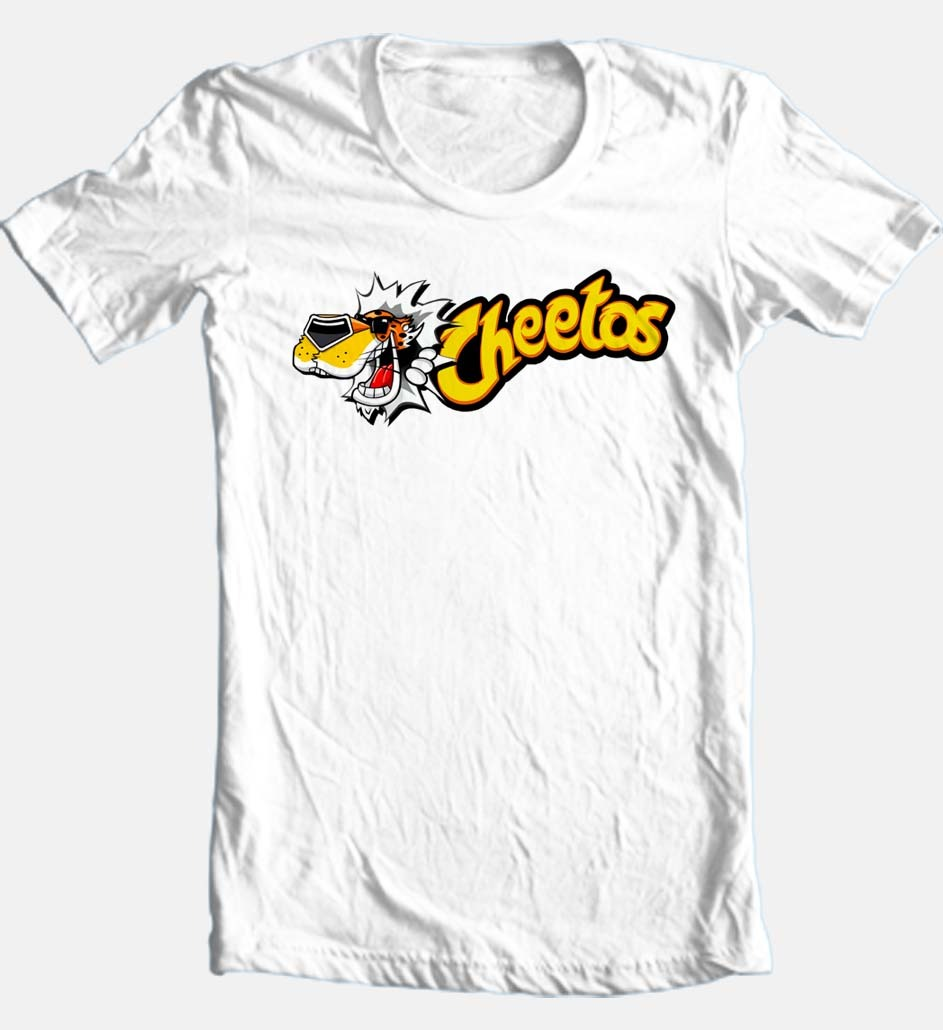 Chester cheetah white cheetos retro 80s brands vintage tshirt