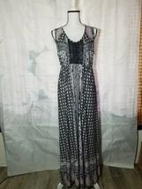 Style & Co Womens Long Sleeveless Dress Paisley Fields Sz M - $20.57