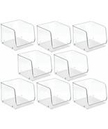 "New mDesign Large Plastic Food Storage Organizer Cube - 7.75"" 8 pc Clear - $59.39"
