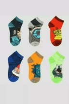 Boys' Trollhunters 6pk Ankle Socks, Assorted Colors/Characters - Size Me... - $7.84