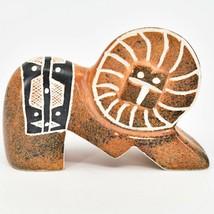 Crafts Caravan Hand Carved Soapstone Orange Lion Figurine Made in Kenya